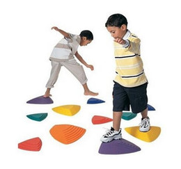 Wholesale Game Steps - River Stepping Stones Walking Game - Assorted Sizes-Set of 11 - Assorted Colors Sensory Integration Training Equipment