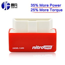 Wholesale Performance Tune Car - Wholesale- OBD ii Nitro OBD2 Chip Tuning Box Plug and Drive performance Chip Tuning interface for Diesel cars Code Readers best quality
