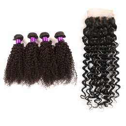 Wholesale Queen Hair Curly Closure - 8A Queen Glamour Malaysian Curly Hair With Closure Curly Long Hair Weaving 4pcs Lace Frontal Curly 13x4 Lace Frontal With Bundles