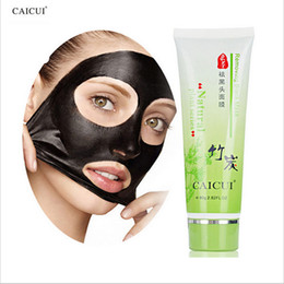 Wholesale Wholesale Black Bamboo Plants - Caicui Bamboo Blackhead Remover Deep Cleansing the Black Head Acne Treatment 100% Natural Plant Series Black Mask 80g