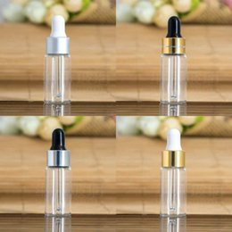 Wholesale Display Glass Bottle - 50PCS 5ML Clear Glass Dropper Bottle 5 ML serum Vial 5ml Cosmetic Packaging, Sample Display Container