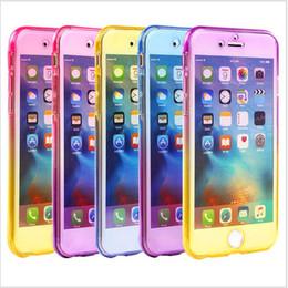 étui transparent pour iphone Promotion 360 degrés complet du corps avant cas de dos dégradé