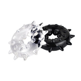 Wholesale Triple Cock Rings - q0228 1 piece Beaded Triple Time Delay Penis Rings Cock Rings Set for Man, Erotic Sex Toys Adult Sex Products for Couple