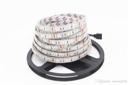 Wholesale White Led Flat Rope Lighting - RGBW Led Strips Lights DC 12V 5M 300LEDs RGB + Warm White   Pure White Led Rope Tape Strips Waterproof IP65