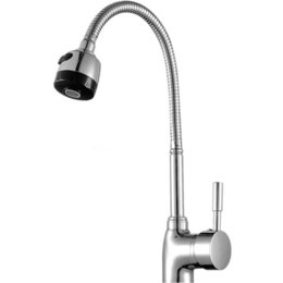torneira cozinha kitchen Coupons - Wholesale- Free Shipping Solid Brass Kitchen Mixer taps hot and cold Kitchen Tap Single Hole Water Tap Kitchen Faucet torneira cozinha