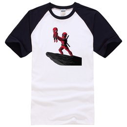 Wholesale cool funny - men t shirts High quality cotton cool funny deadpool printed men T shirt casual short sleeve o-neck T shirt for men tops tees