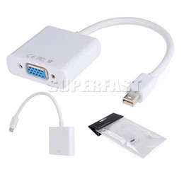 DP zu VGA Display Port Männlich zu VGA Buchse Mini Audio Konverter Adapter Kabel Für MacBook Air Pro MDP Laptop mit OPP Paket von Fabrikanten