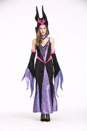 Wholesale Adult Witches Halloween Costume - Europe and America sexy Halloween role playing Witch Clothes Cosplay Costume Uniform Special Occasion Adult Games Apparel