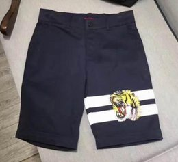 Wholesale Mens Cotton Beach Shorts - Special 2017 Summer Tiger Men Beach Shorts Italia Milano Casual Shorts Cotton Gabardine Board Short Pants Mens Trunks S-XXXL