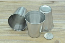 Wholesale stainless steel whisky flask - Mini 2oz Stainless Steel Hip Flask Wine Cups Portable Outdoor Whisky Stoup Wine Pot Alcohol Cup