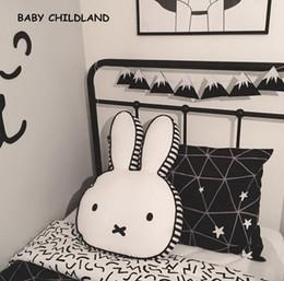 Wholesale Kids Water Cooler - Wholesale- 60*40cm cartoon baby pillow cotton baby kids room decoration rabbit children room decor pillow newborn baby photography props