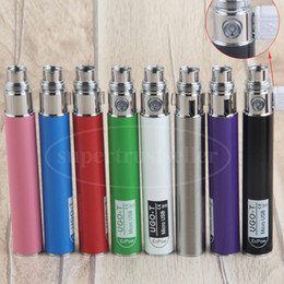 Wholesale Ego Twist Mod - New Designs Vape Batteries Mods 650 mah UGO T eVod USB Passthrough E Cigarette Battery for eGo C Twist 510 Thread Tanks