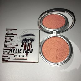 Wholesale Concealer Single - New arrival kylie jenner 4 color concealer high light powder blush repair loose powder free shipping