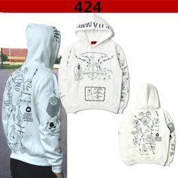 Wholesale Cool Color Paintings - very cool trend fashion youth hooded hoodies men fummy Graffiti painted men's Harajuku hooded sweatshirts