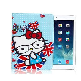 Wholesale Super Cute Iphone Cases - hot sale super slim cute hello kitty cartoon printing stand smart folio leather case for ipad mini 2 3 4 air air 2