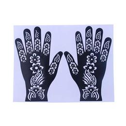 Wholesale Wholesale Airbrush Tattoo Kits - Wholesale- India Henna Temporary Tattoo Stencils For Women Hand Leg Arm Feet Body Art Decal 2017 New