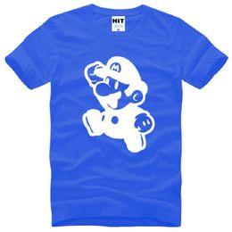 Wholesale Gray Mario - New Designer Supermario T Shirts Men Cotton Short Sleeve O-Neck Mario Brothers Men's T-Shirt Fashion Male Cartoon Top Tees S-3XL