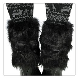 Wholesale shoes cuffs - Wholesale Hot Fashion Women Warmers Leg Boot Cuff Soft Faux Fur Boot Cuff Leg Warmers Boot Toppers 20CM Women Leg Shoes Cover Cuff Free DHL