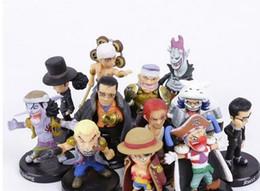 Argentina Anime One Piece 12 unids / set Luffy Sabo Shanks Lucci Cocodrilo Moria Buggy Enel PVC Figuras de Colección Modelo Juguetes 5 cm Suministro