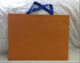 Wholesale Wholesale Gift Shops - wholesale price New Packaging Paper Shopping Gift Bag ( orange and brown )