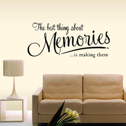 Wholesale Country Gifts Home Decor - The Memory Wall Quote Decal Removable Stickers Funny Decor Bedroom Sitting Room Vinyl Diy Home Art Gift