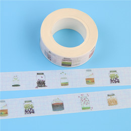 Wholesale Japanese Washi Paper Wholesale - Wholesale- 2016 1 Pc   Pack 15mmx10m Wishing Bottle Pattern Japanese Washi Decorative Adhesive Tape Diy Masking Paper Tape Sticker Free Sh
