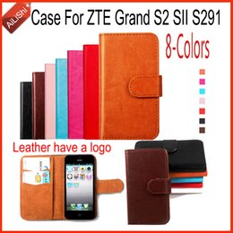 Wholesale Cover S2 Luxury - AiLiShi For ZTE Grand S2 SII S291 Case Luxury PU Flip 8-Colors New Leather Case High Quality Wallet Protective Cover Skin