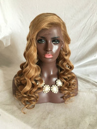Wholesale Honey Blonde Human Hair Wigs - 100% Unprocessed human hair Loose wave lace front wigs honey blonde glueless full lace wigs human hair for black women