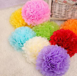 Wholesale hanging tissue paper flower balls buy cheap hanging free shipping 12 inch 2017 best wedding decoration paper pom pom blooms tissue paper pom poms flower balls mightylinksfo