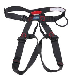 ice belts Promo Codes - Professional Rock Climbing Mountaineering Belt Downhill Harness Rappel Rescue Safety Belt Body Protect Outdoor Climbing Equipment
