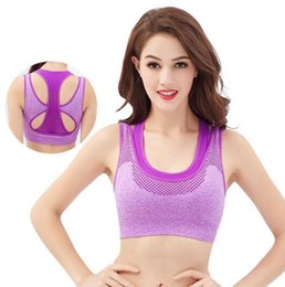Wholesale Thin Sports Bra - Ladies fashionable No steel ring Sports bras Shockproof running thin section vest A0014