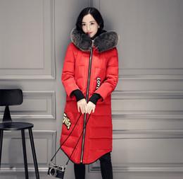 Wholesale Down Coat Ladies Pattern - Real Fox Fur Coat Women Winter Parkas Ladies White Duck Down Jacket Snow Clothes HoodedThicker Warm Outwear Windbreaker 2017 Larger Size