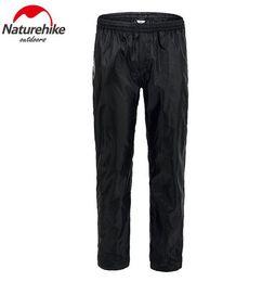 Wholesale Nylon Pants Hiking - Wholesale- Naturehike Unisex Outdoor Hiking Rain Pants Climbing Double Zipper Waterproof Trousers NH17C003-K