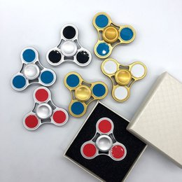 Wholesale Free Pottery - Colorful Fidget Spinner Aluminium alloy HandSpinner EDC Torqbar Brass Hand Spinner Decompression Anxiety Fidget Toys DHL Free