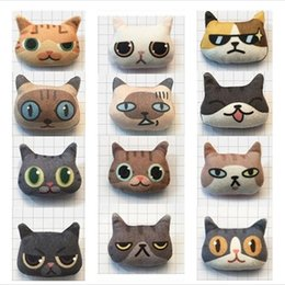 Wholesale Cheap Handmade Clothing - Wholesale Cheap Cute Stereoscopic Cat Brooches Lapel Pins Handmade Cotton Cartoon Brooch Clothes Pin Bag Accessories for Ladies