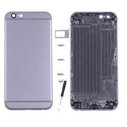 Wholesale complete housing - 100% Genuine High Quality Housing Back Battery Door Cover Complete Assembly For iPhone 6G with dhl shipping free!!!