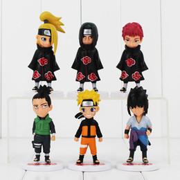 Wholesale Naruto Base - New style Naruto Q Version Sasuke Itachi Deidara Shikamaru Sasori with base 12cm Cool Model Toy