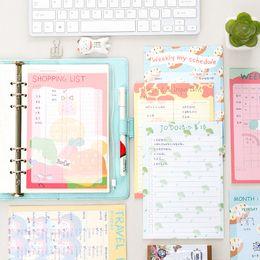 Wholesale Kawaii Diary Book - Wholesale- 2017 Kawaii Illustration series Weekly Work Planner Book Diary Agenda Filofax office shopping list travel records list Supplies