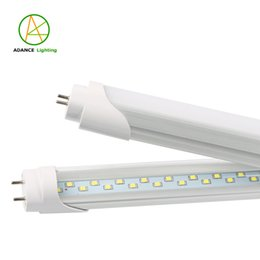Wholesale White Smd Led Number - T8 4ft G13 Double Row SMD 2835 LED Tube 28W 3000Lumens 144leds Clear Milky White Cover Led Fluorescent Tube Light with Tracking Number
