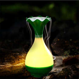 Wholesale Essential Oil Mist Bottles Wholesale - Jade Bottle Led Humidifier Aroma Air Diffuser Purifier Atomizer essential oil diffuser difusor de aroma mist maker fogger