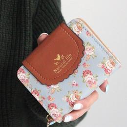 Toptan-Japonya'nın Kırsal Stil Kadın Cüzdan Çiçek Baskı Tatlı Lady Carteira Hasp Sikke çanta Cüzdan Kart Tutucu cheap wallet holders japan nereden cüzdan sahipleri japonya tedarikçiler