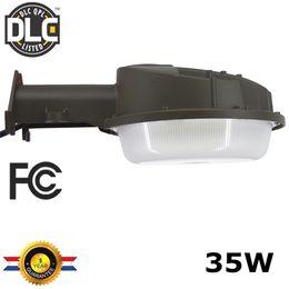 Wholesale Led Area Lights - DLC ETL-listed 35W 3800LM LED Street Lighting Outdoor Barn Light LED Area Light Dusk to Dawn Photocell LED Security Light Yard Flood Lights