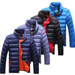 Wholesale Silver Winter Coats For Men - Wholesale- 2016 Winter Jacket Men New Spring Men's Cotton Blend Mens Jacket And Coats Casual Thick Outwear For Men Plus Clothing Male 4XL