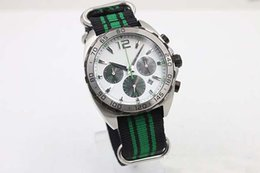 Wholesale Ribbon Watches - Old Brand New Arrival Quartz Chronograph Men's Wristwatch Caliber Senna Watch White Dial Number Bezel Platinum Skeleton Fabric Male Watch