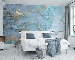 Elegantes wohnzimmer tapete online-Custom Any size fototapete große fresko tapeten wohnzimmer tv elegant hellblau textur 3d fresko tapete