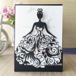 Wholesale Wedding Invitations Decorations - 50pcs free shipping Laser cut Wedding Invitation Cards invitaciones de boda convite de casamento Wedding Invitation Cards Princess design