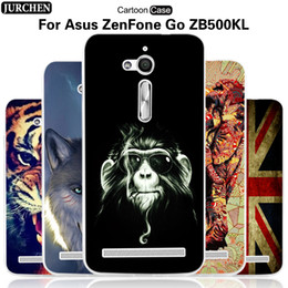 Wholesale Silicone Cover For Asus - Wholesale- JURCHEN Case For Asus Zenfone GO ZB500KL ZB500KG Case Cute Cartoon Soft Silicone Back Cover For Asus Zenfone ZB500KL Cover