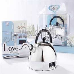 Wholesale Timers Favor - FREE SHIPPING 100sets Creative Home Party Favors Kitchen Teapot Timers Bridal Shower Event Gifts Wedding Favours Love is Brewing Timer