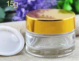 g g g crema de la cara de la botella del maquillaje de cristal crema del blsamo de labio envase del cosmtico del tarro de la crema