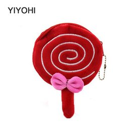 Wholesale Buggy Pouch - Wholesale- Lovely Lollipop Coin Purse Coin Bag Lady Cute Wallet Pouch Women Girl Makeup Buggy Bag Free Shipping